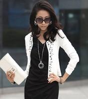 new spring 2014 short  jackets women coat blazer  women spring outerwear denim clothing plus size XXL