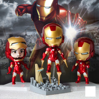 PVC Marvel's The Avengers Iron Man Model Toy Anime Action Figure Clay Figurines Children fans Gift