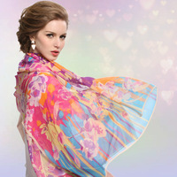 Women's thin and large  mulberry silk scarf  for spring and autumn season 90*180cm
