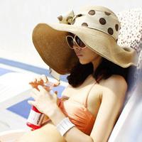 Chapeu Femininos Chapeu Women Bandeaus Summer Women's Big Along The Cap Strawhat Sunbonnet Large Brim Beach Hat