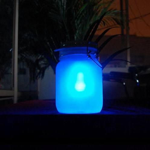 Photoswitchable led sun jar solar lights sun jar moonlight cans two-color sun jar day gift(China (Mainland))