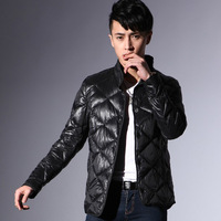 Free shipping EMS,1PCS,Polyester,90%Gray duck down,MLXLXXLXXXL,4 color,2013 male short design thin down coat male men's clothing