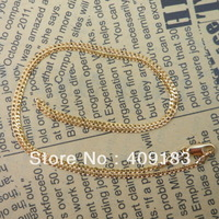 Wholesale - 1pcs/lot Women's Jewelry 18k gold plated chains necklaces link necklace gold color 17.5inch /1.7mm 2.6g R3
