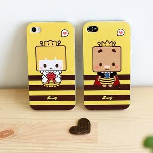 Small box  for iphone   4s 4 lovers phone case  for apple   mobile phone case protective case a pair