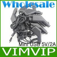 20Pcs/Lot  Mini usb Car Charger 5V 2A For MTK Tablet pcs MTK6577 6588 8377+Wholesale