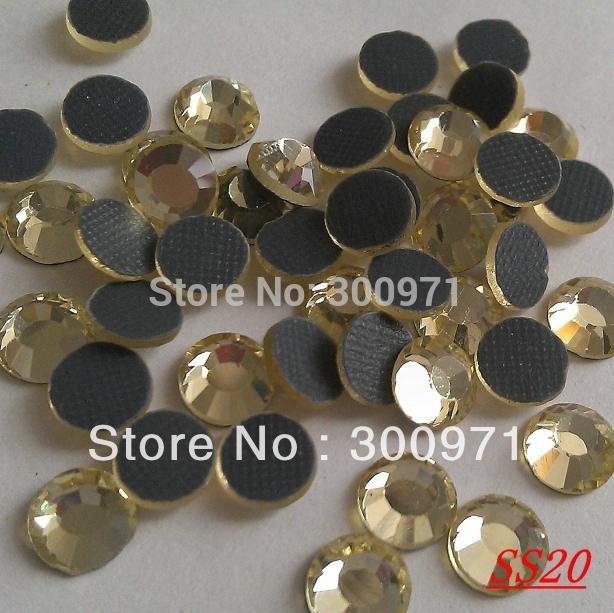 Free shipping 1440pcs/bag 4.8mm SS20 jonquil DMC hot fix rhinestone of garment hot fix motif decoration .(China (Mainland))
