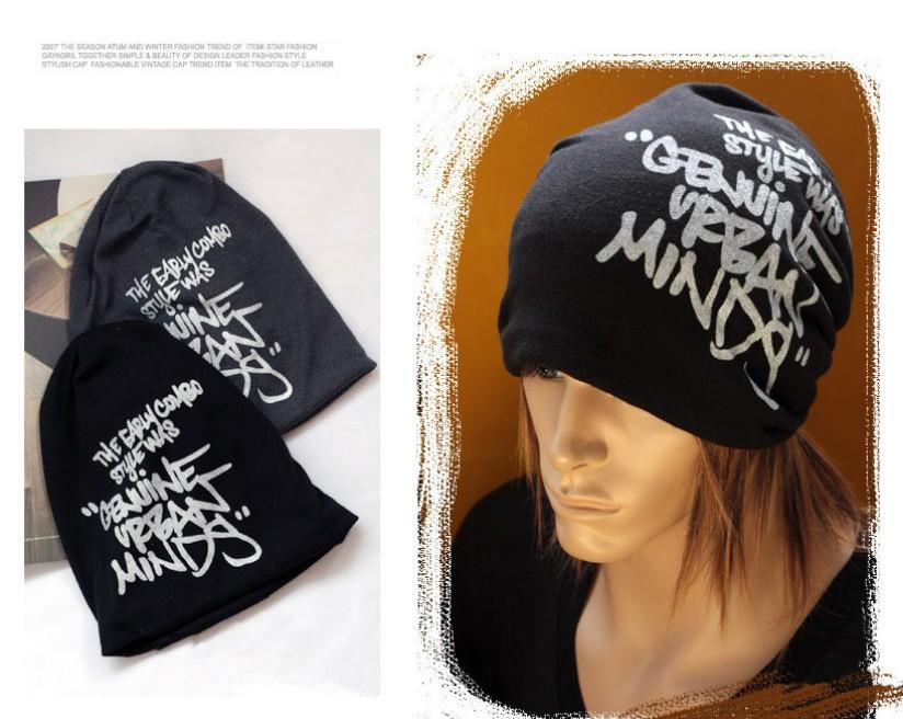 2013 Fashion Korean Hip-Hop Winter Hat Letters Knitting Caps Fashion Beanie Headwear 4 Colors HTZZM-008(China (Mainland))