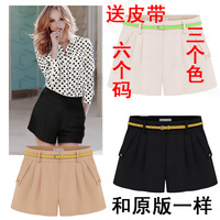 2014 New Women High Waist Shorts Strap Summer women's Candy Color Casual Pants Shorts Female Shortts Za Fashion Tops Plus Size