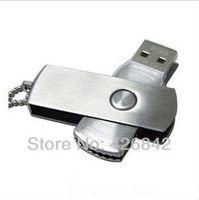 Free shipping! Metal rotating 2GB4GB 8GB 16GB 32GB 64GB drawing corrugatedusb flash drive logo laser gift usb flash drive