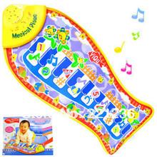 pescado envío gratis música de piano juego de alfombras niños moda juguetes educativos música pescado hormigueo estera, juguetes manta(China (Mainland))