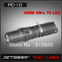 Free shipping +1PC+JETBeam PC10 Cree XM-L T6 CR123A Flashlight 5 Modes 550 Lumen Hiking Torch