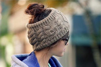 2013 New Style Fashion Women's Head Band Solid Color No Top Lady's Caps Twist Knitted Nice Clothes Accessory 6 Colors HTZZM-010