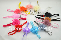 Anna $10 Boutique Vintage lace flower ON Thin Elastic headband Toddler Headband Newborn Headbands hair accessories 12pc/lot