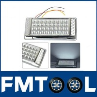 Free Shipping for DC 12V Car Vehicle Dome Roof Ceiling Interior Light Lamp White 36 LED Silver