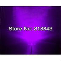 1000pcs 5mm Straw Hat Ultra Bright Purple LED Lamp Long Legs