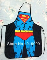 Free Shipping 2013 Interesting Kitchen Apron Cooking Blue Superman Funny Sexy Apron