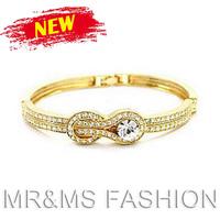 Free Shipping Factory Wholesales 18K Full Rhinestone Belt Buckle Bracelets Fashion Girl Best Love Gift Crystal Jewelry 728