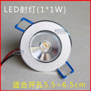 Led spotlight wall lights full set 1w ceiling light downlight ceiling spotlights