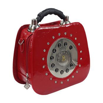 free shipping Personalized vintage telephone bag bags shaping bag portable women's cross-body handbag 2013