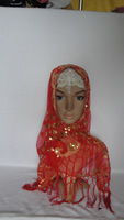 mu81 free shipping plain voile muslim headscarf,islamic hijab mix colors square scarf fast delivery