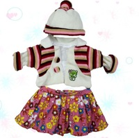 "Retail&Wholesale cheap doll cloth set Lovely toy dress outfit for 24"" USA Girl Many styles"