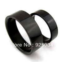 6mm Stainless steel  Black  Rings,can match couple rings with the 4mm width, $19.99/36pcs
