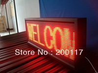 """P10 outdoor led electronic sign screen with red color size 15.7""""X53.5"""" FREE shipping"""