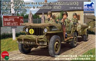 Bronco 35106 1/35 scale US GPW 1/4 ton 4X4 Utility Truck (Mod.1942) w/Crew