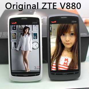 "Original ZTE V880 mobile phone Android 2.2 OS 3.5"" Capacitive Screen 3.2MP Camera WIFI 3G Smart phone+Free shipping"