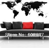 New Wall sticker cartoon world map not real Free shipping 475mm*1170mm  Wall Mural Decal Home Decor Art Vinyl M-58