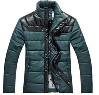 Free Shipping,2013 hot sale fashion winter warm Splice men jacket/coat/overcoat,three colours,sizeM-XXXL,drop shipping,MWM044