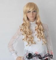 Halloween party wig model wig cos multicolour long curls wave