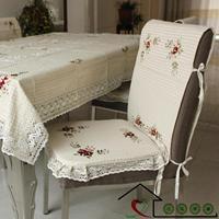 100% cotton table cloth1.3m x 1.8m +4pcs chair mats 51cm x 41cm + 4pcs cushion 42cm x 36cm set