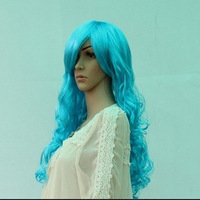 Halloween wig dance party wig model wig cosplay glue wave scroll