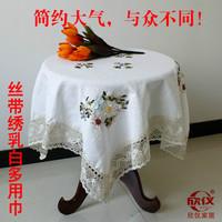 100% cotton Fluid computer round cotton fashion table cloth towel cover 1.5m x 1.5m