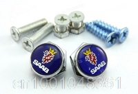2x License Plate Frame Chrome Bolts Screws Holder Stainless Steel For SAAB 2pcs 9-2X  9-3X 9-4X 93B 93F 95 96GT 96Sport 99 GT750