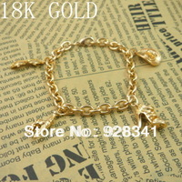 Wholesale - 1pcs/lot Women's Jewelry 18k gold plated  chains bracelet link bracelet charm bracelets gold color R9