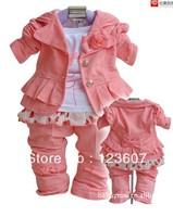 2013 children's wear autumn clothes girls suits autumn new three-piece suit