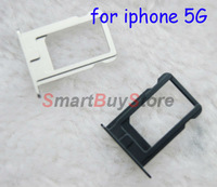 100pcs/lot Sim Card Slot Tray Holder for iPhone 5 5G Black and White Color freeshipping