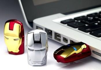 The unique iron man model USB 2.0 Enough Memory Stick Flash pen Drive 4G-32G