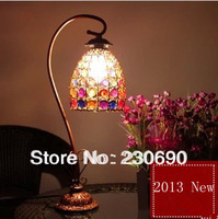 T fashion vintage bedside lamp nepal handmade beaded lamp rustic dimming