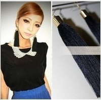 Min $10 free shipping MOMOKO EMODA MURUA black retro tassel drop earrings