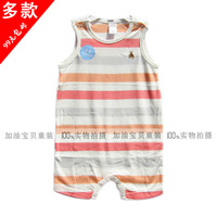 G baby clothes summer 100% cotton bodysuit romper male plus size vest romper