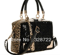 2014- 2013 Bestseller!! fashion ladies' leapord sports handbag