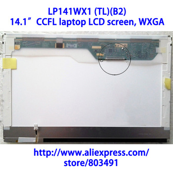 "LP141WX1 (TL)(B2) , 14.1"" laptop LCD screen, WXGA, LP141WX3-TLB2, Grade A+, CCFL backlight, 1280*800 pixels"