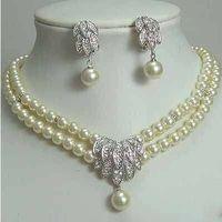wholesale Cheap Fashion Jewelry Fancy Bridal Jewellery Pearl Necklace Earring sets