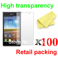 Free shipping 100 pcs/lot High transparency LCD screen protector for LG Optimus L7 P705 with retail packing