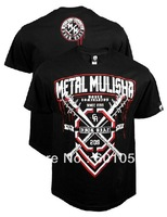 man short sleeve t-shirt Metal Mulisha Nick Diaz Walkout  fight tops black 125