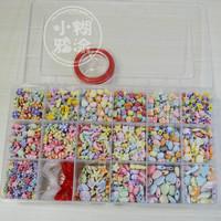 Bead toys acrylic small scrub sets Child beads mushroom nail