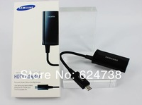 MHL Micro USB to HDMI HDTV For Samsung Galaxy S3 SIII i9300 Cable Adapter With Retail packing & free shipping